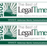 Hellerman Communications Named Best PR Firm for Law Firms for Fifth Year Running